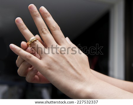 Wedding Ring With Hand