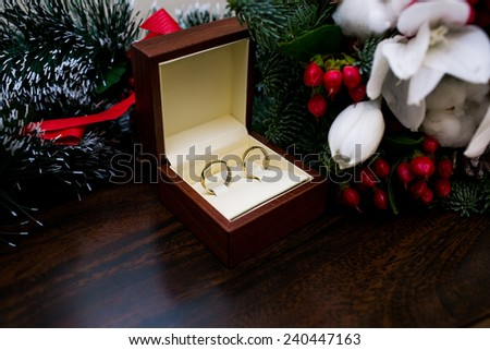 Wedding rings in a box