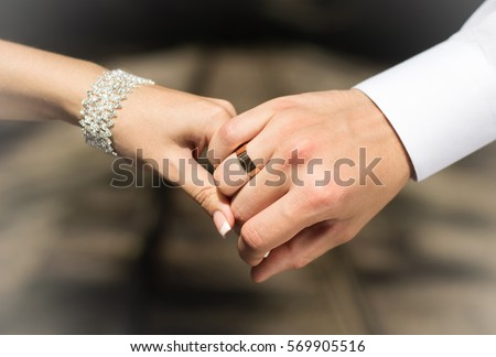 Wedding Rings Hands Lovers Husband Wife Stock Photo 100 Legal