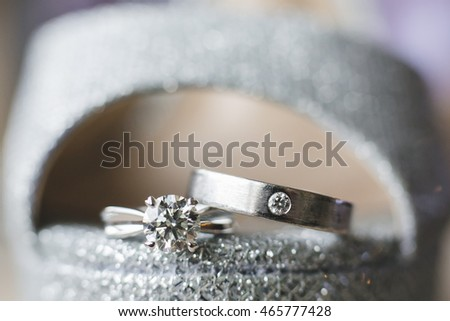 Wedding rings, reflection, Close-up of wedding rings, wedding religion