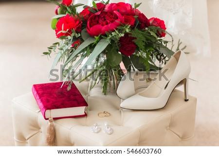 Wedding Rings Roses Stock Photo Royalty Free 546603760 Shutterstock