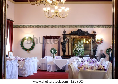 Wedding room - stock photo