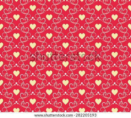 Wedding seamless pattern with hearts for wallpaper pattern fills web page background surface textures