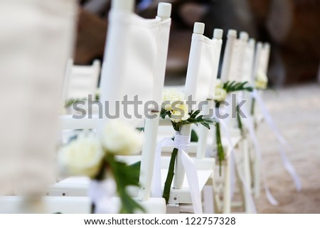 wedding setup detail - stock photo