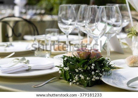 Wedding shabby chic table