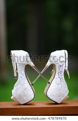 Wedding shoes on high heels