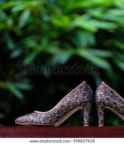 Wedding Shoes. Selective focus.