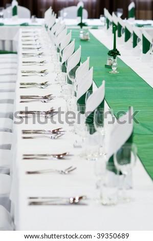 wedding table settings - stock photo