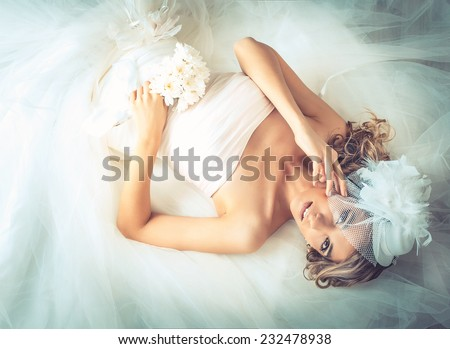 wedding, the bride - stock photo