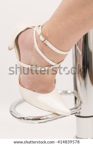 wedding woman shoes on white background