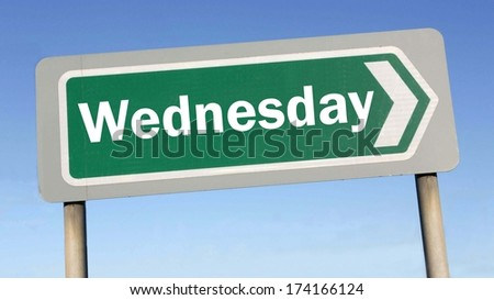 Wednesday week next or following day schedule concept for appointment or event in agenda  - stock photo