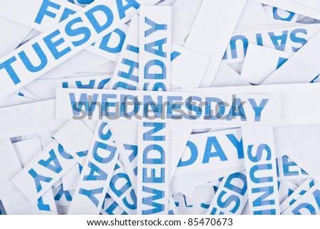 Wednesday word texture background. - stock photo