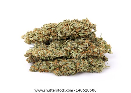 Weed, marijuana flowers, all of a heap/Bunch of Weed - stock photo