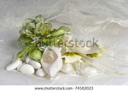 weeding Favors green and candy for weddings - stock photo