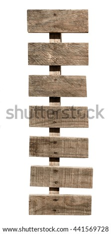 weekly wooden signboard isolated