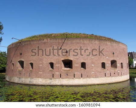 Weesp Fortress, Stelling van Amsterdam, Netherlands - A UNESCO World Heritage Site - stock photo