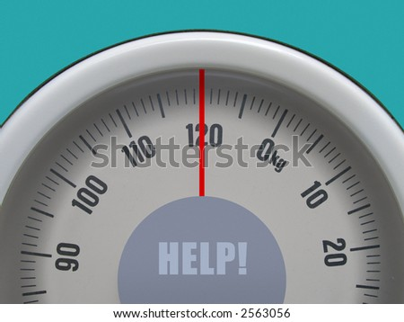 Weigh-scale on limit - HELP ! - stock photo