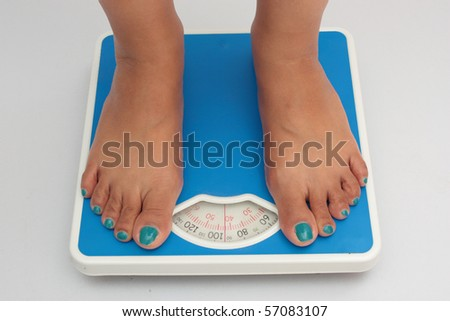 Weighing machine 2 - stock photo