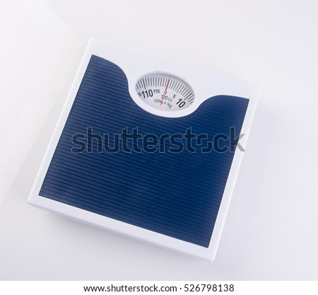 weighing machine or Retro style weighing machine on background