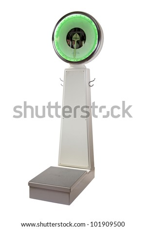 weighing scales - stock photo