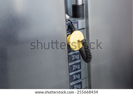 weight at gym - stock photo