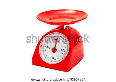 weight gage scale - stock photo