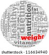 weight info-text graphics and arrangement concept on white background (word cloud) - stock photo