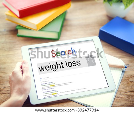 Weight Loss Diet Cardio Balance Nutrition Slim Concept - stock photo