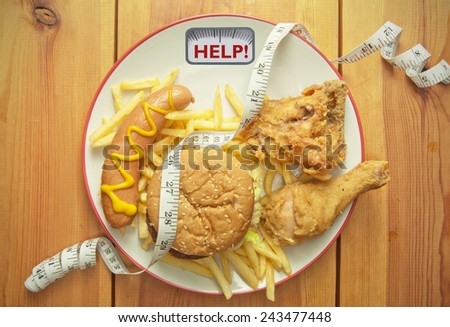 Weight loss diet concept - stock photo