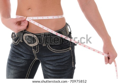 Weight Loss Measure - stock photo