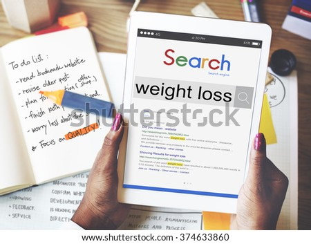 Weight Loss Slim Workout Nutrition Diet Fitness Concept - stock photo