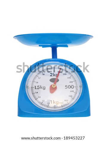 weight measurement balance isolated on white background (100 gram)