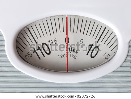Weight - 0 on the scale - stock photo