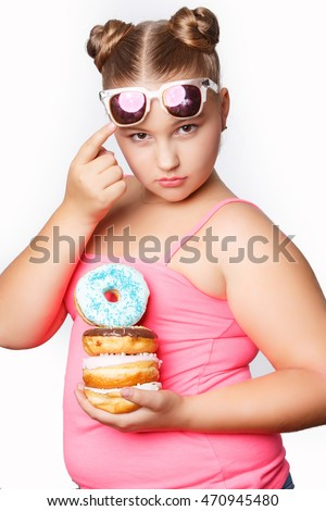 funny fat women eating donuts