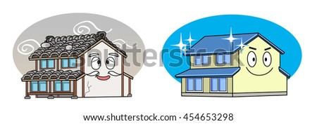 Weight roof and lightweight roof - stock photo
