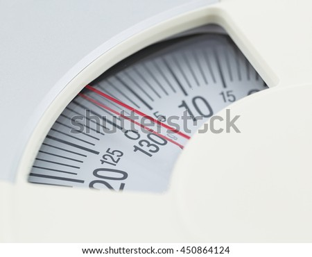 weight scale closeup - stock photo