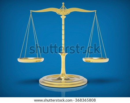 Weight Scale. 3D Balance Concept. Isolated Background. - stock photo