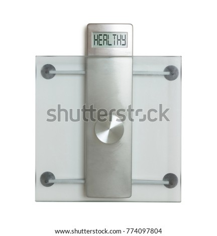Weight scale isolated on a white background - Healthy