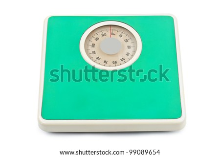 Weight scale - isolated on white background