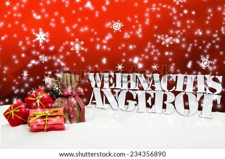 weihnachtsangebot angebot angebote weihnachten rot