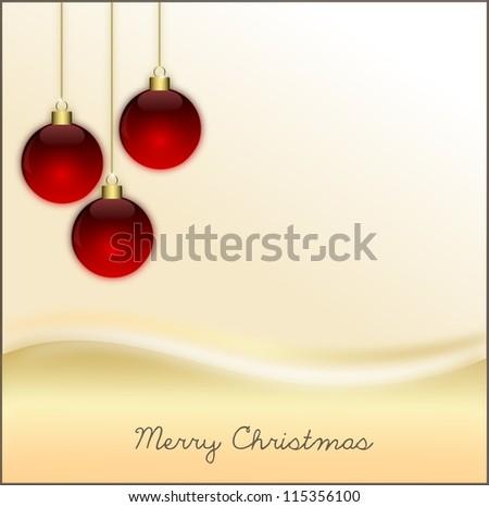 Weihnachtskugeln - stock photo
