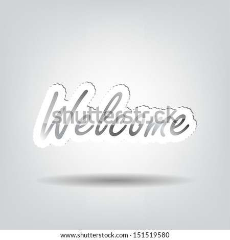 Welcome background with space for your text (Raster)