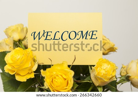 Welcome card - stock photo
