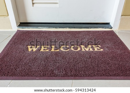 welcome carpet welcome doormat carpet on front door