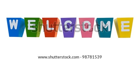 Welcome create potted plants of multi colors