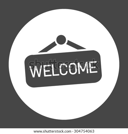 Welcome Hanging Symbol Stock Illustration 304754063 Shutterstock