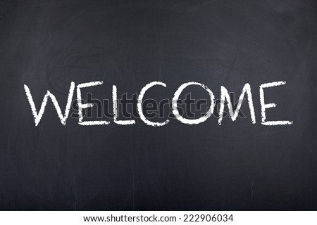 Welcome Home Sign - stock photo