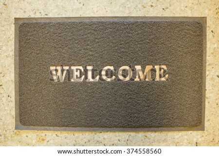 Welcome mat matted background & textured : Your text design & copy space
