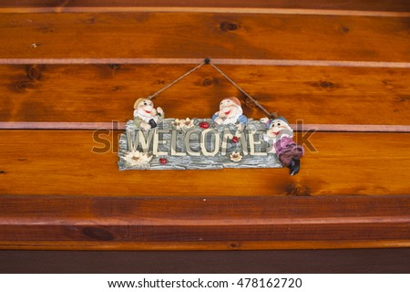 welcome sign above the main entrance