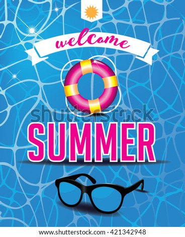 Welcome summer design.  - stock photo